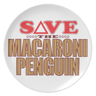 Macaroni Penguin Save Dinner Plates