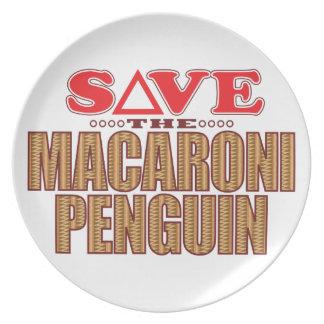 Macaroni Penguin Save Plate