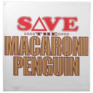 Macaroni Penguin Save Printed Napkin