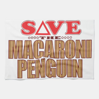 Macaroni Penguin Save Tea Towel
