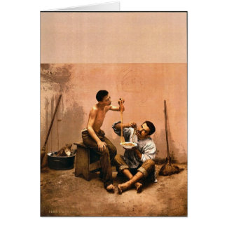 Macaroni seller Naples Italy vintage Photochrom Greeting Cards