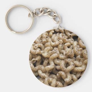 Macaroni truffle basic round button key ring