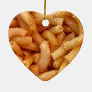 Macaroni's and cheese ceramic heart decoration