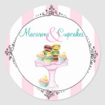 Macarons and Cupcakes Stickers or Seals