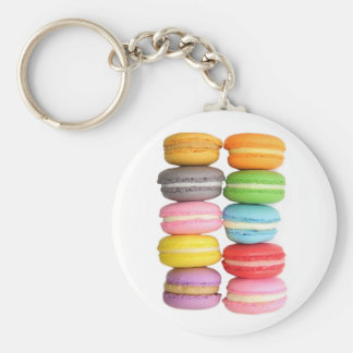 Macarons Basic Round Button Key Ring
