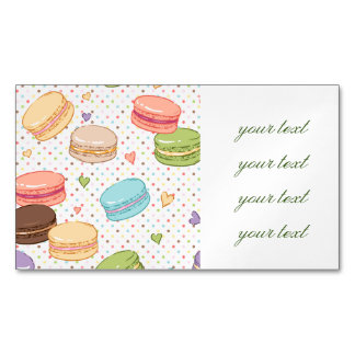 Macarons,cookies,french pastries,food hipster,tren magnetic business cards
