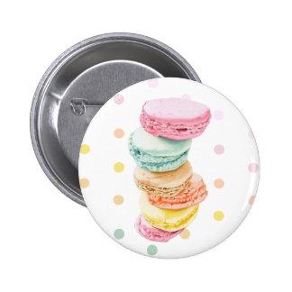 Macarons dots Button