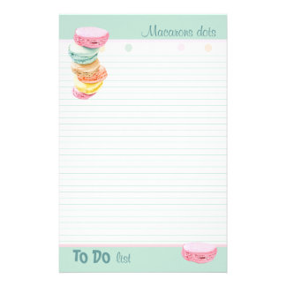 Macarons dots lined To-Do List Stationery