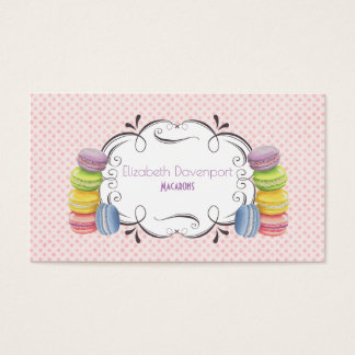 Macarons French Dessert in Pastel Watercolors