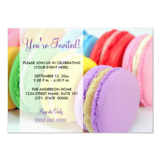 Macarons Invitations