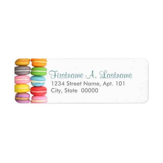Macarons Labels