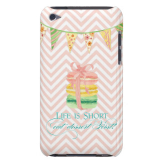 Macarons Life is Short Eat Dessert First Chevron iPod Touch Case-Mate Case