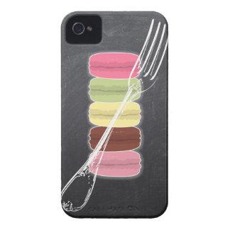 MACARONS & stylish FORKS on chalkboard iPhone 4 Case