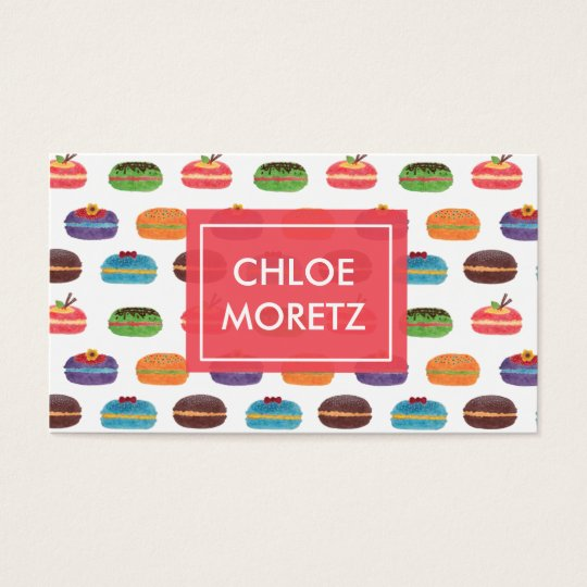Macaroon Bakery Business Card