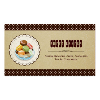 Macaroon - French Parisian Dessert Bakery Store Pack Of Standard Business Cards