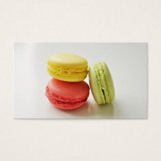 Macaroon macaron bakery french pastry chef caterer business card