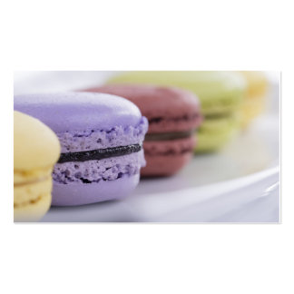 Macaroon macaron french pastry chef bakery caterer pack of standard business cards
