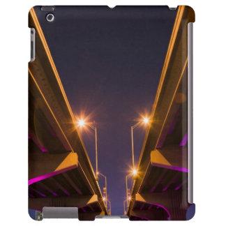 MacArthur Causeway seen from underneath at dusk iPad Case