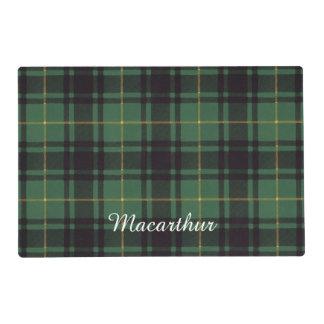 Macarthur clan Plaid Scottish tartan Laminated Placemat