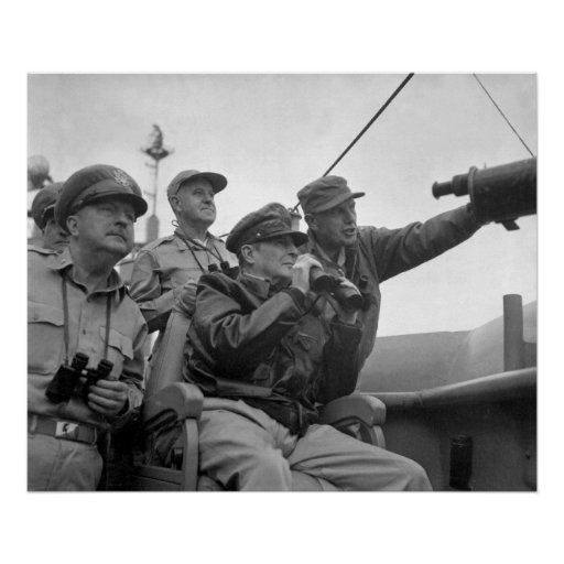 MacArthur Observing Inchon Poster