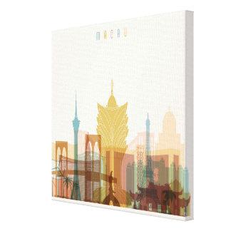 Macau, China   City Skyline Canvas Print
