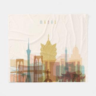 Macau, China   City Skyline Fleece Blanket