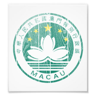 Macau Coat Of Arms Photographic Print