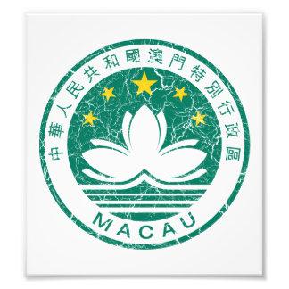 Macau Coat Of Arms Photo Print