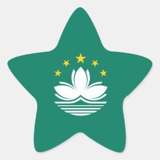 Macau/Macao Flag. China/Chinese Star Sticker