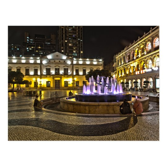 Macau - Senado Public garden Postcard
