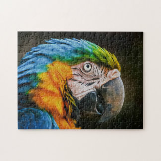 Macaw 02 Digital Art - Photo Puzzle