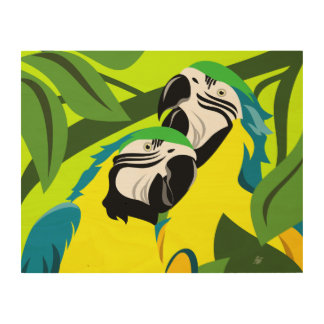 Macaw Abstract Wall Art