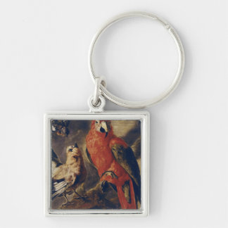 Macaw and Bullfinch Key Ring