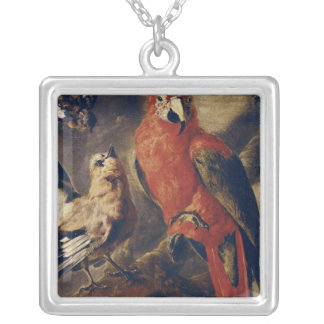 Macaw and Bullfinch Silver Plated Necklace