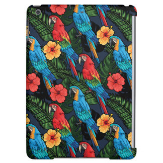 Macaw And Hibiscus Pattern