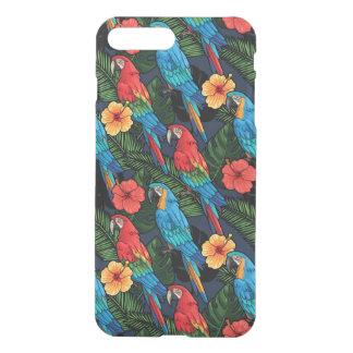 Macaw And Hibiscus Pattern iPhone 8 Plus/7 Plus Case