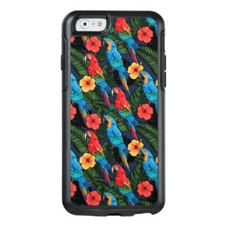 Macaw And Hibiscus Pattern OtterBox iPhone 6/6s Case