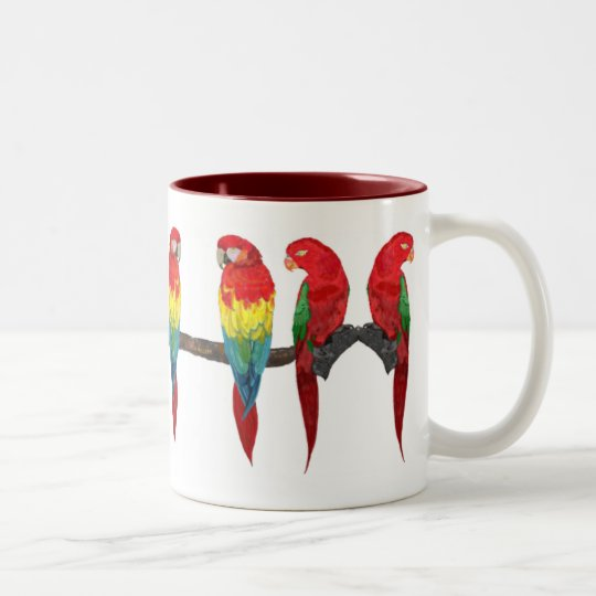 Macaw and Lory Drinkware Two-Tone Coffee Mug