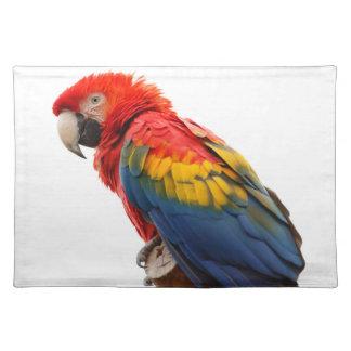 """Macaw"" design place mats"
