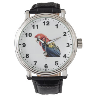 """Macaw"" design wrist watch"