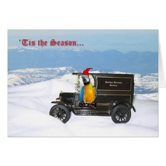 Macaw Holiday Delivery Card