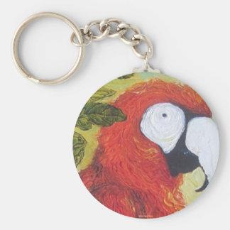 Macaw I Basic Round Button Key Ring