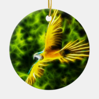 Macaw In Flight Christmas Ornament