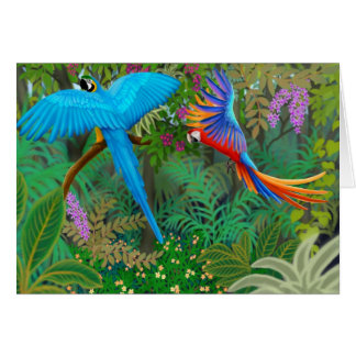 Macaw Jungle Card