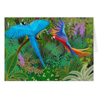 Macaw Jungle Card