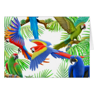 Macaw Jungle Greeting Card