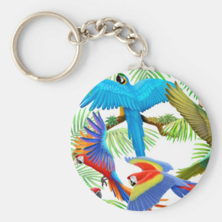 Macaw Jungle Keychain
