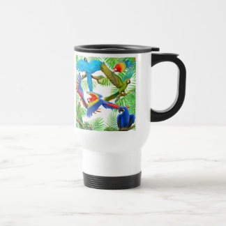 Macaw Jungle Travel Mug