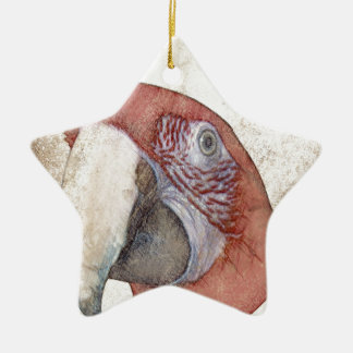 Macaw Parrot Antique Style Sketch Christmas Ornament