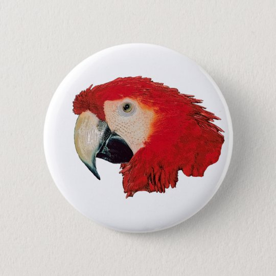 Macaw Parrot Badge Pin